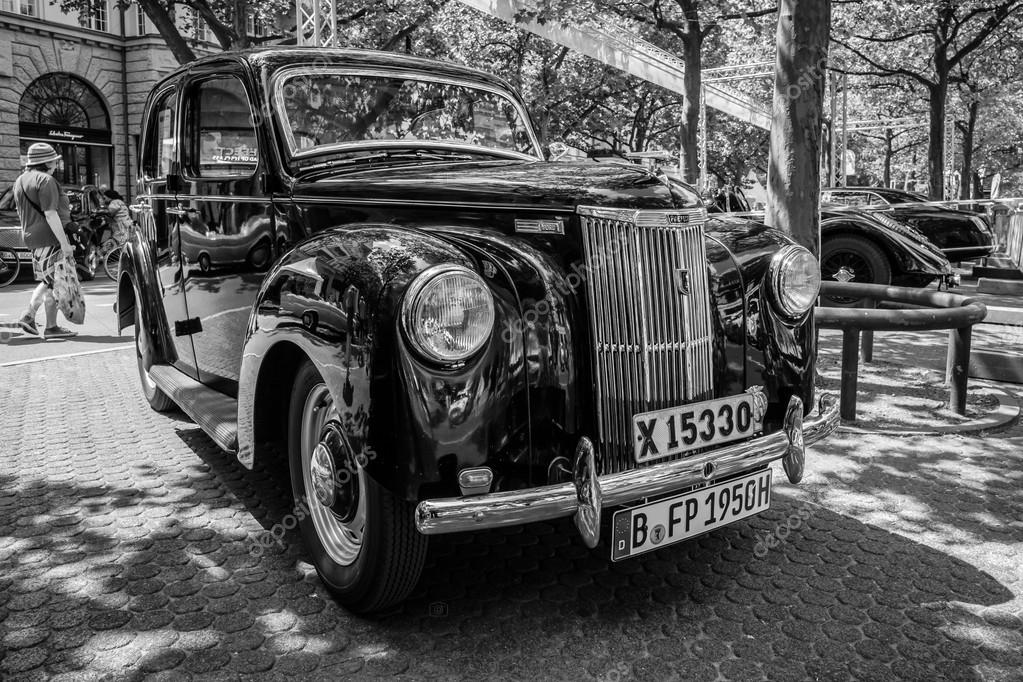 Vintage car Ford Prefect (E493A), a British cars which was produced ...