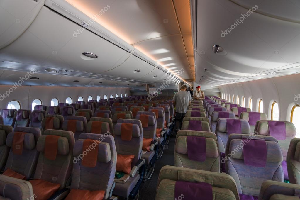 Interior Of An Economy Class Of The World S Largest Aircraft Airbus