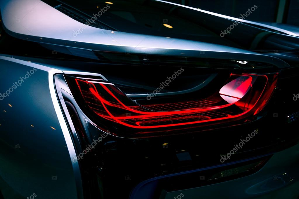 Berlin November 28 2014 Showroom The Rear Lights Of The Car Bmw
