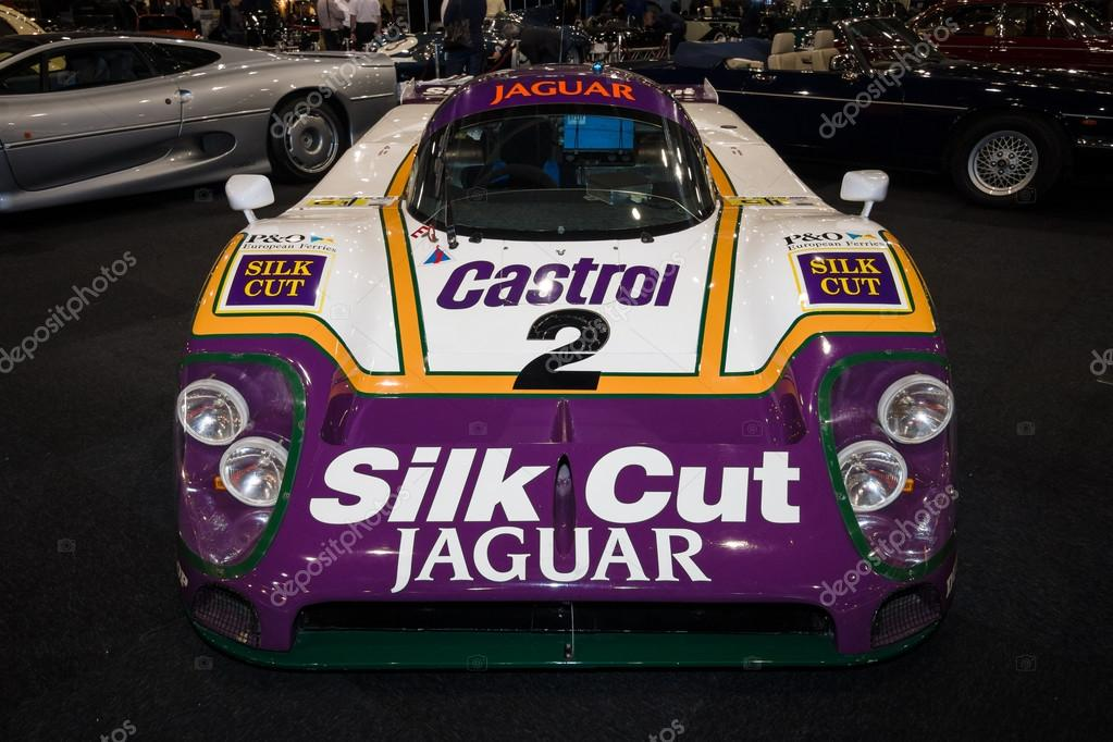 A Sports Prototype Race Car Jaguar XJR 9. Team Silk Cut, Winner