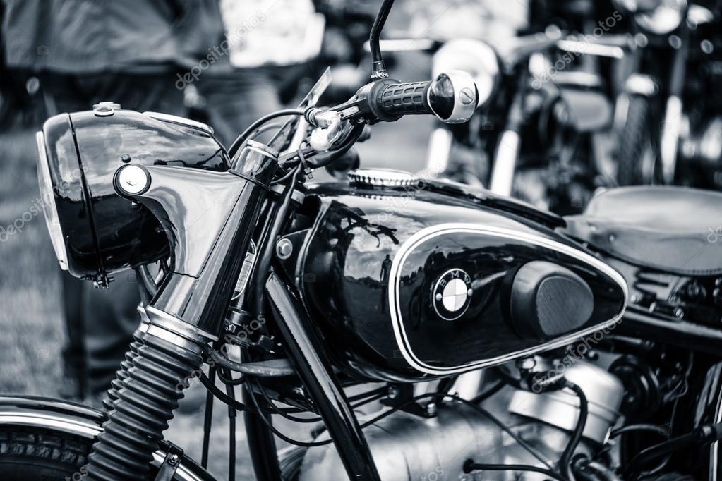 dettaglio della moto bmw r51-3, 1955 — foto editoriale stock
