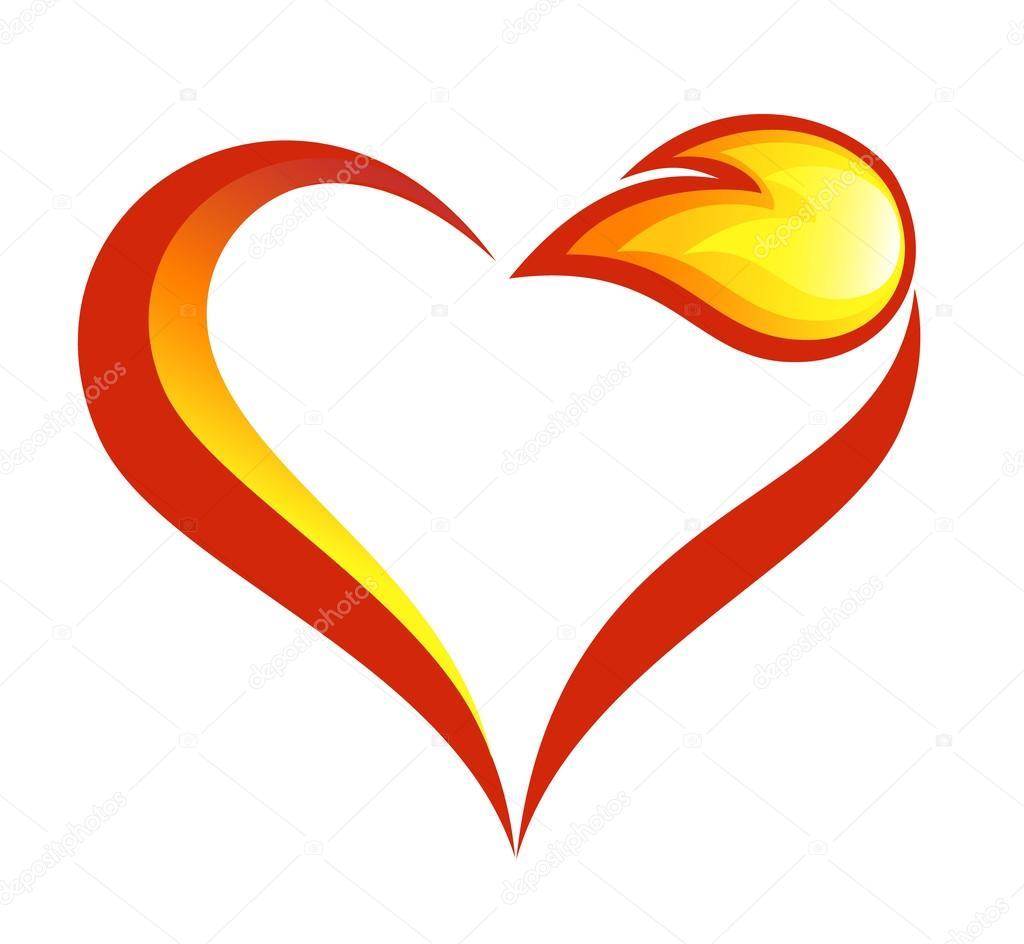 Plantillas Para Tatuajes De Corazones En Llamas Resumen De Fuego