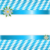 Fotografie Banner in bavarian colors with edelweiss