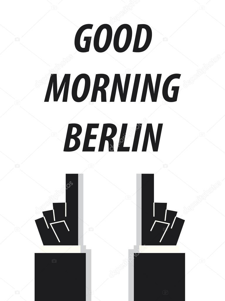 Good Morning Berlin Typography Vector Illustration Stock