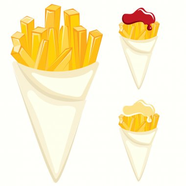 French fries paper cones