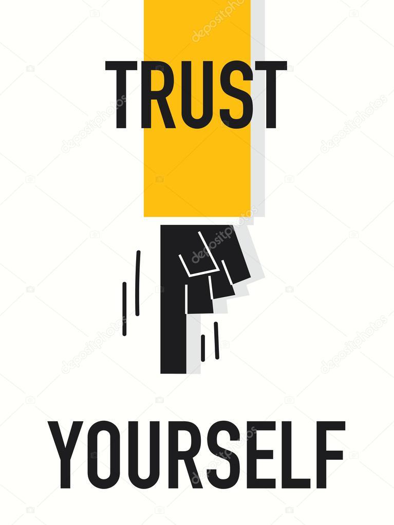 Word TRUST YOURSELF