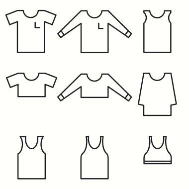 Shirts icons set
