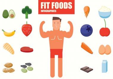 Foods infographics stock vector