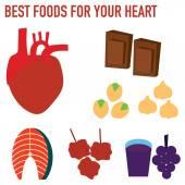 Nejlepší potraviny pro vaše srdce vektorové ilustrace