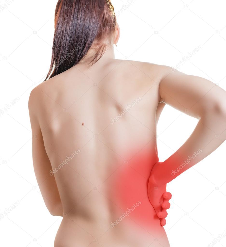 Schmerzen im Rücken — Stockfoto © eevl #93018862