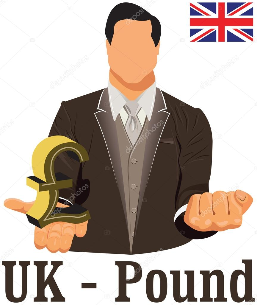 British National Currency Symbol Pound Representing Money And Fl
