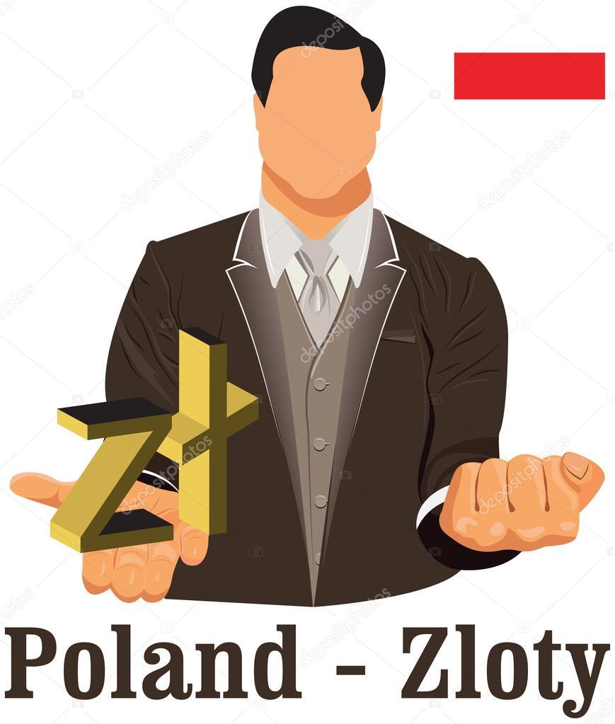 Poland national currency symbol polish zloty representing money poland national currency symbol polish zloty representing money stock vector 52925035 biocorpaavc