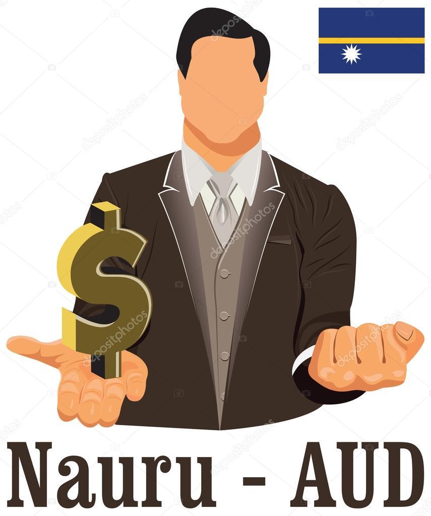Nauru National Currency Symbol Australian Dollar Representing Mo