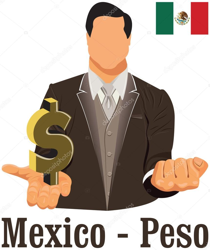 Mexico National Currency Mexican Peso Symbol Representing Money