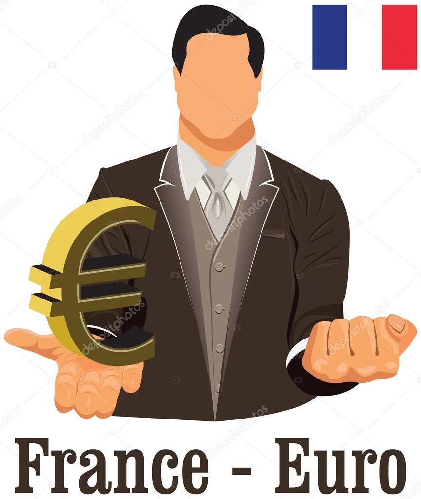 France national currency euro symbol representing money and flag france national currency euro symbol representing money and flag stock vector biocorpaavc
