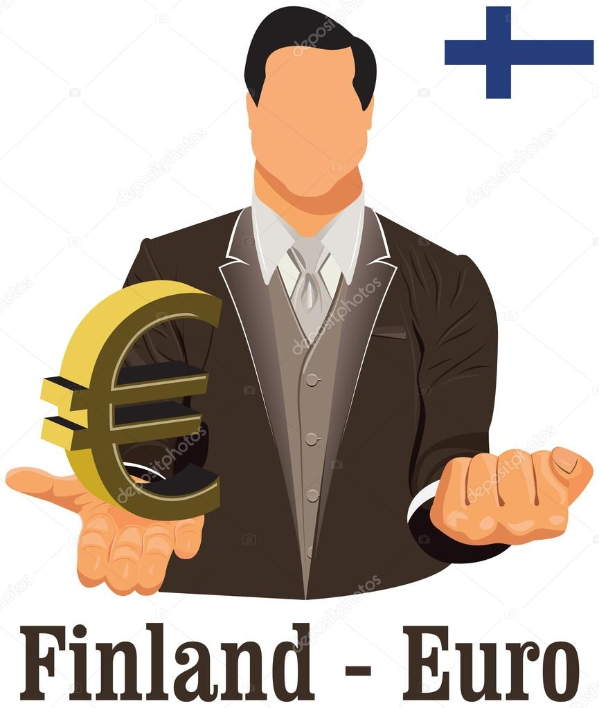 Finland national currency euro symbol euro representing money an finland national currency euro symbol euro representing money an stock vector buycottarizona Choice Image