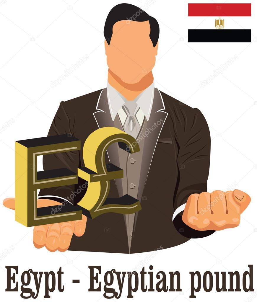 Egypt National Currency Egyptian Pound Symbol Representing Money