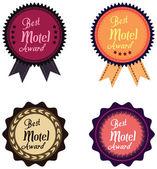 Vektorové promo popisek nejlepší motelu service Award roku