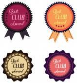 Vektorové promo popisek nejlepší roku Award za klub