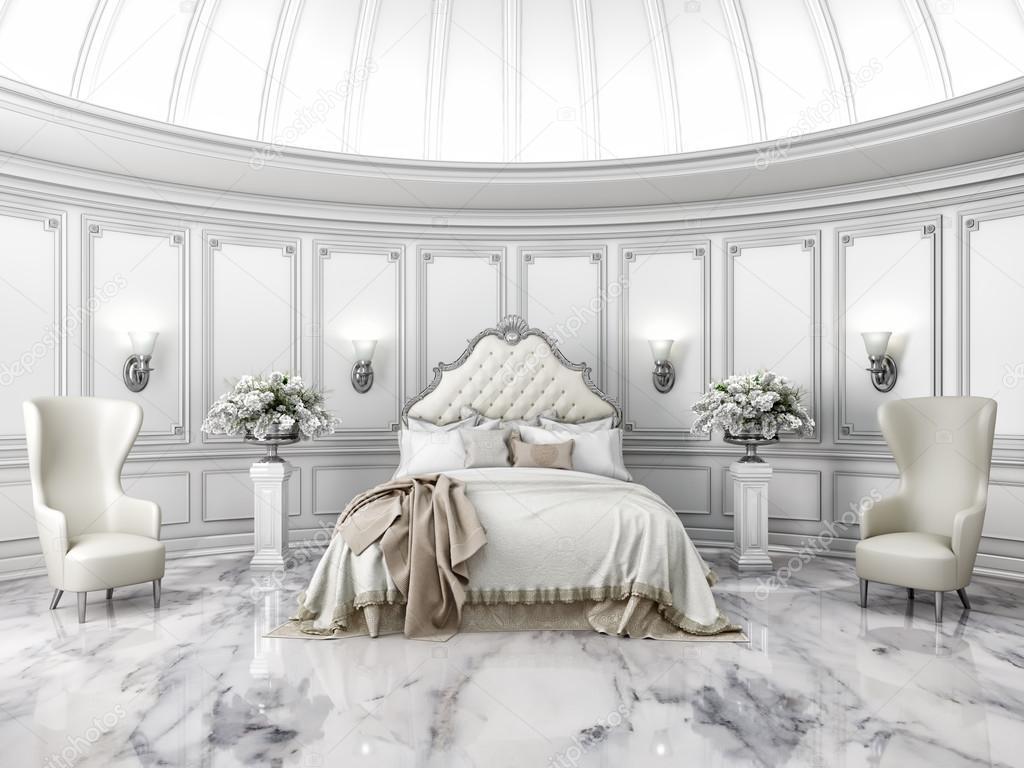 Interni di stile classico rotondo camera da letto in villa for Ville interni di lusso
