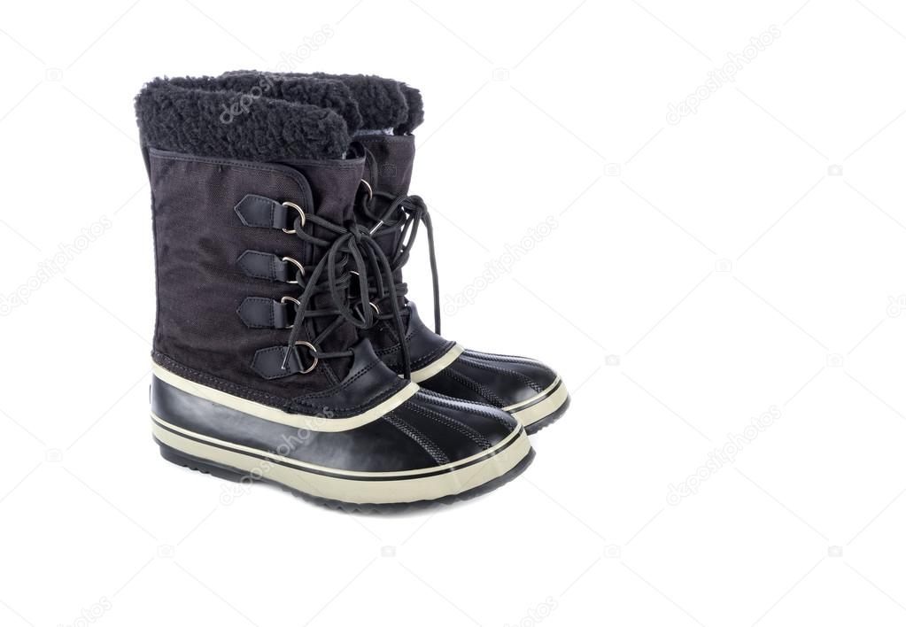 low priced 1e0f9 8cd80 Stivali di gomma invernale maschile — Foto Stock © chiyacat ...