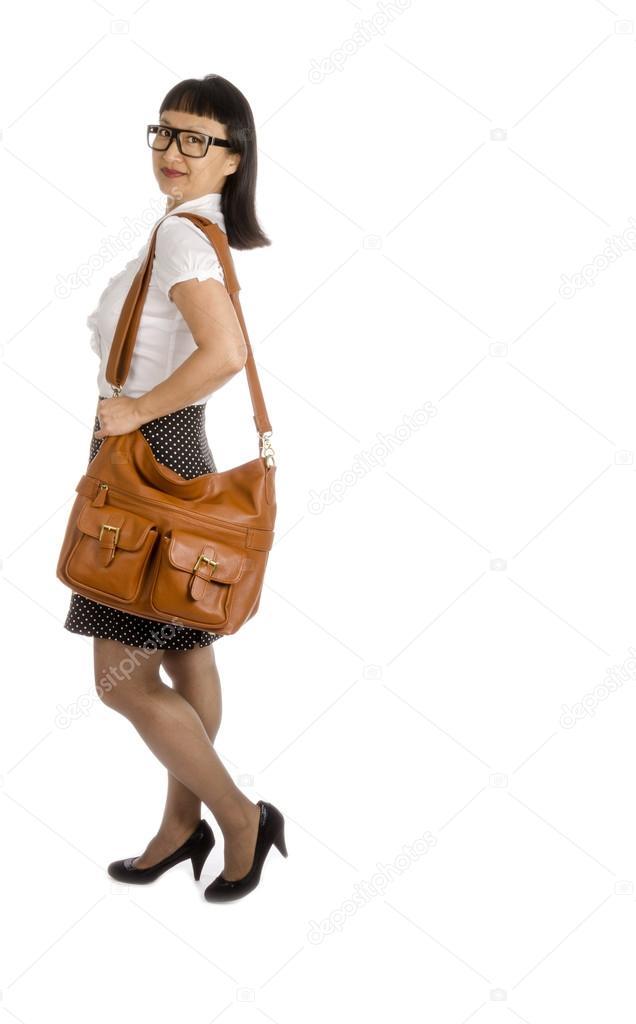 Orientalische Frauen gekleidet für das Büro, Isolated on White ...