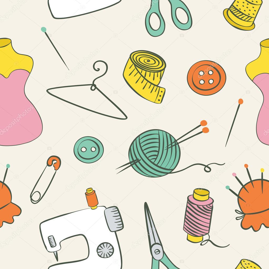 Costura, tejido a mano de patrones sin fisuras — Vector de stock ...