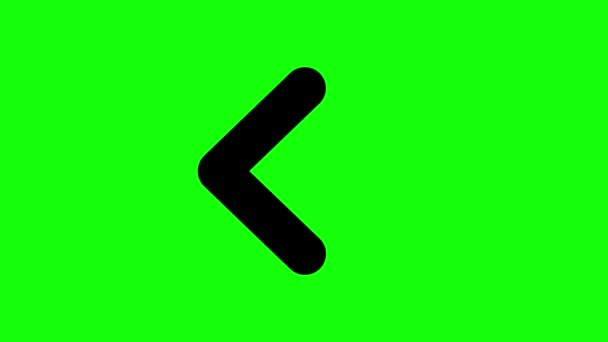 Animation of Arrows Sign Moving on Green Screen (Chroma Key) Background.