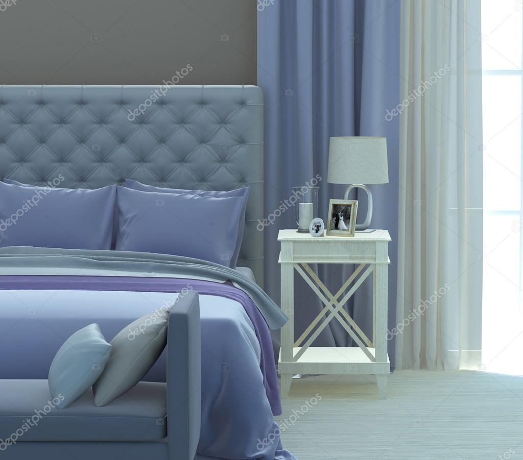Camera da letto grigio e blu foto stock liatris 109365862 for Camera da letto blu