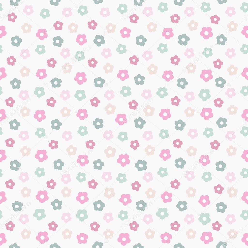 シンプルなかわいいパステル花柄、ベクトル イラスト — ストックベクター