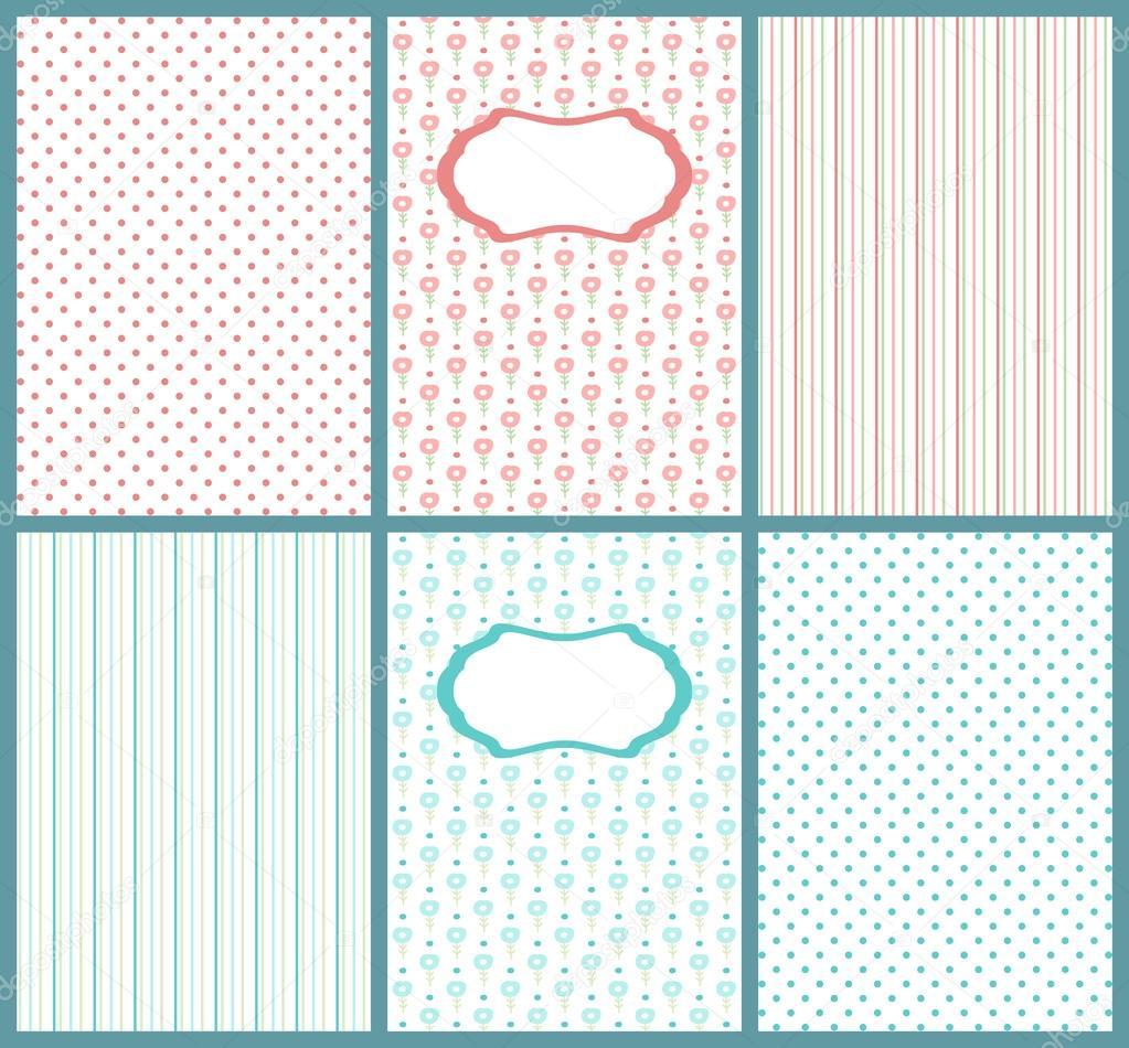 Zusammenstellung von niedlichen Pastell Karten. Baby Shower ...