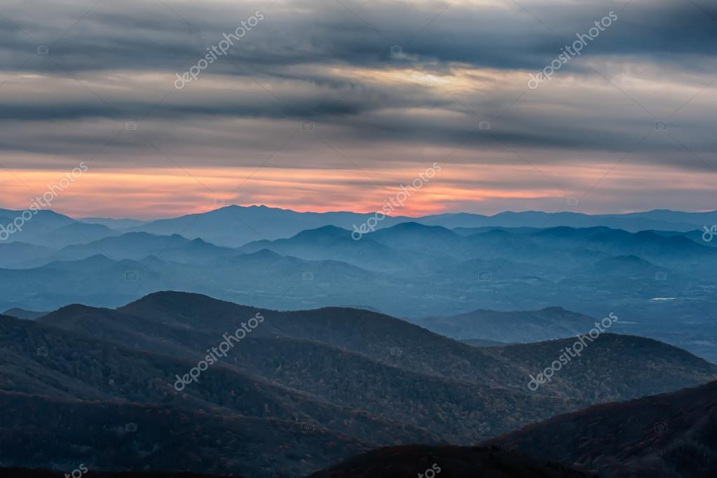 Blue Ridge Parkway National Park Sunset Scenic Mountains