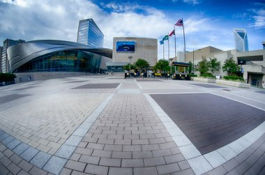 Charlotte, NC - October, 11, 2014 nascar hall of fame plaza in t