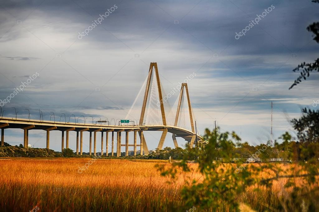 The Arthur Ravenel Jr. Bridge that connects Charleston to Mount