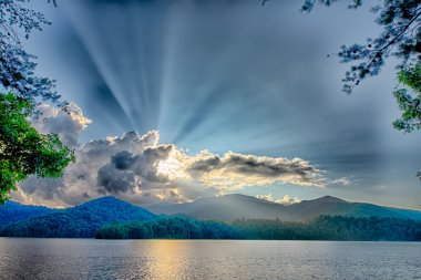 lake santeetlah in great smoky mountains