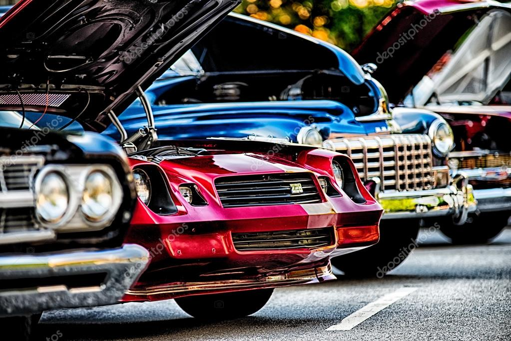 Classic Car Show In Historic Old York City South Carolina Stock - Classic car show york