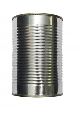 Tin canned isolated