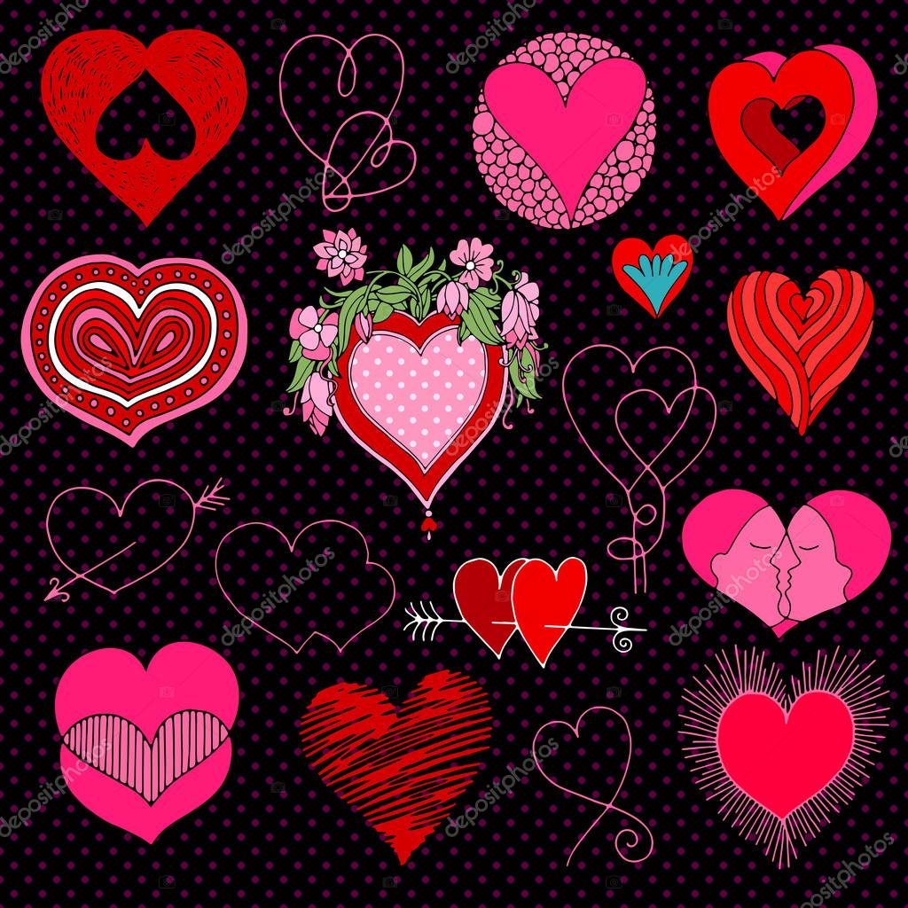 Valentine S Day In Chalkboard Style Red White And Pink Beautiful