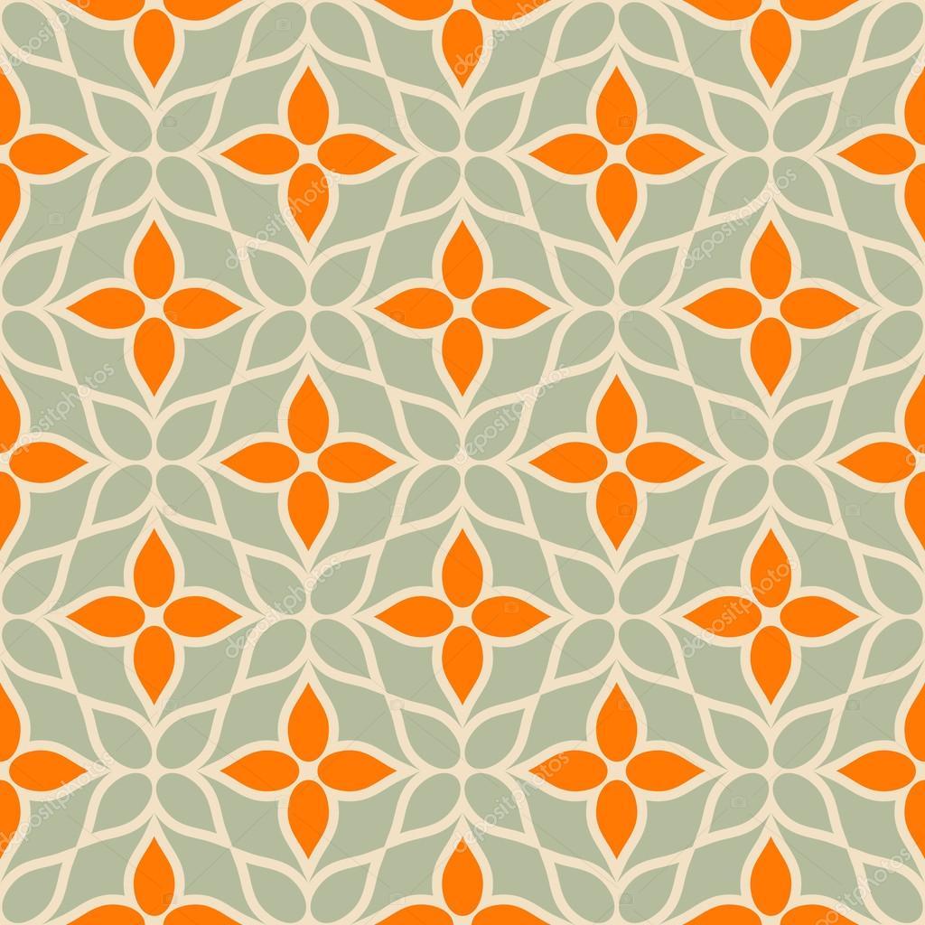 Vintage vector geometric background, floral modern ...