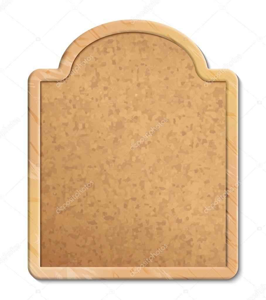 Kork-Board mit Holzrahmen — Stockvektor © kostins #53010143