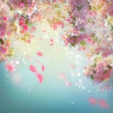"Картина, постер, плакат, фотообои ""весенний фон вишневого цвета"", артикул 71074817"