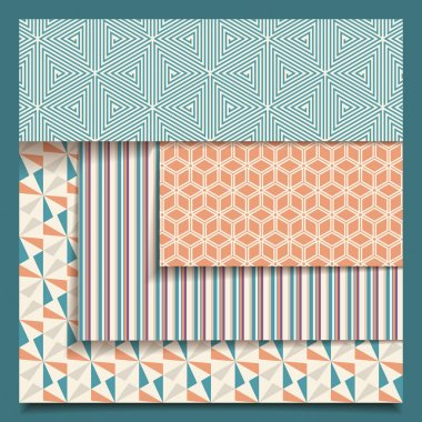 Vector Seamless Geometric Pattern Set