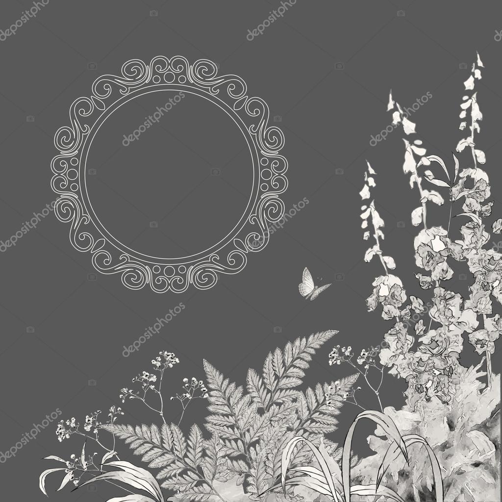 Vector Floral Summer Background