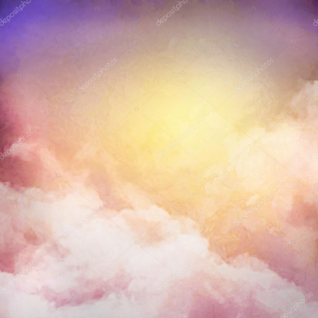 Sunrise Sky Painting Background