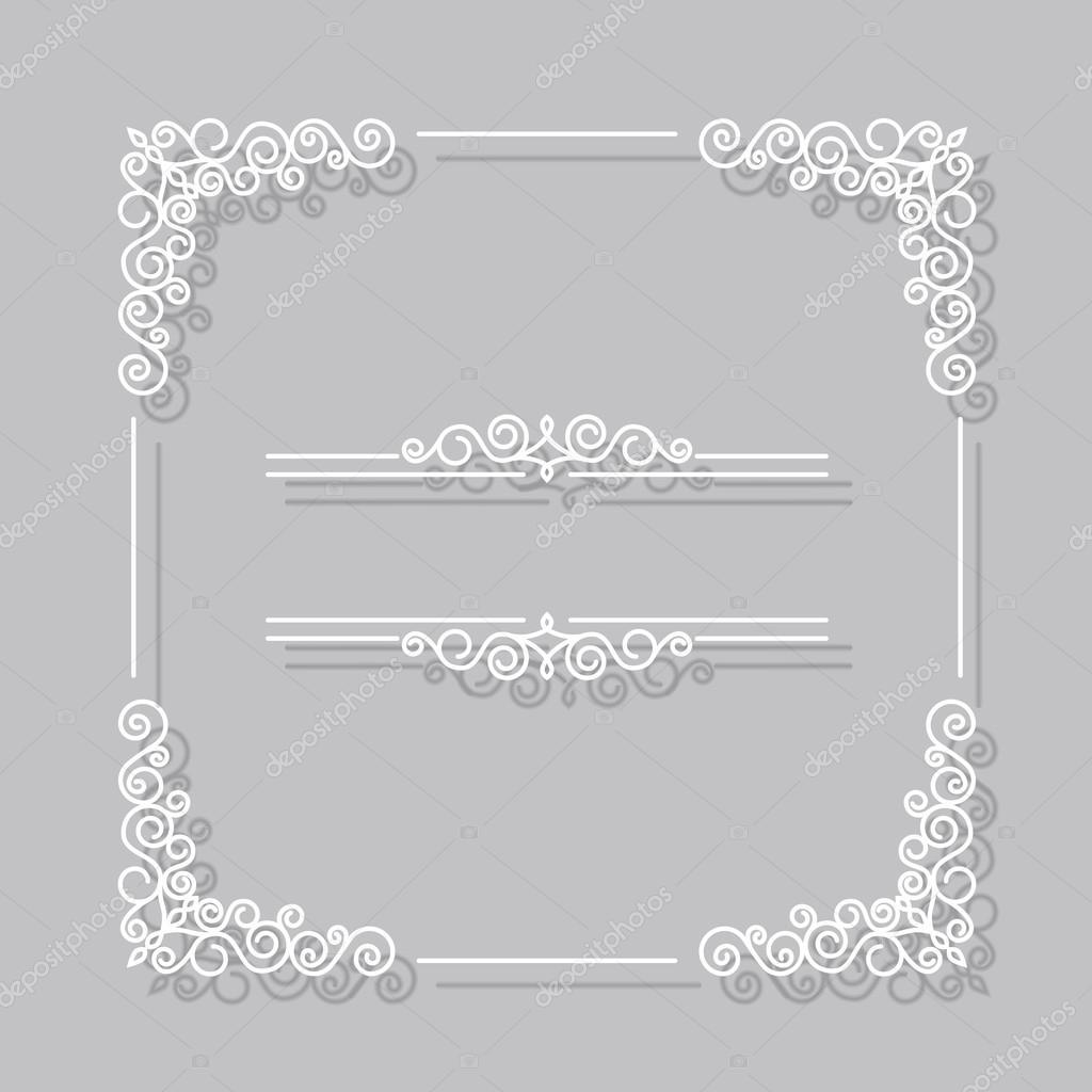marco blanco vintage frontera Vector — Archivo Imágenes Vectoriales ...