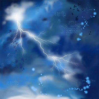 Night Storm Sky Painting Background
