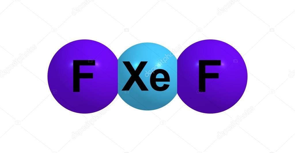 キセノン二フッ化の分子構造は、...