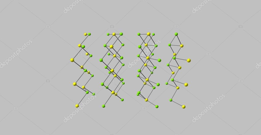 Estructura Molecular Del Cloruro De Cadmio Aislado En Gris