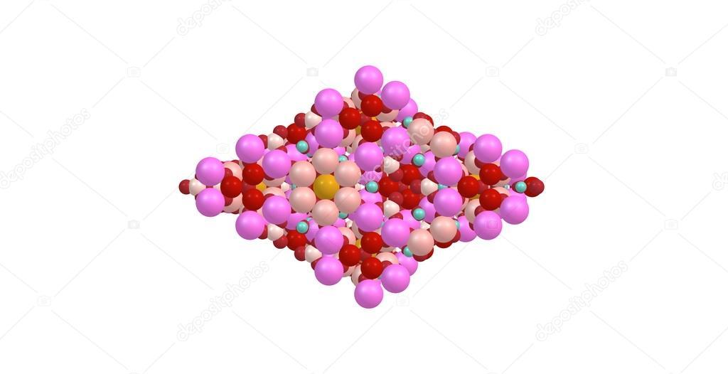 Estructura Molecular De Turmalina Aislado En Blanco Foto