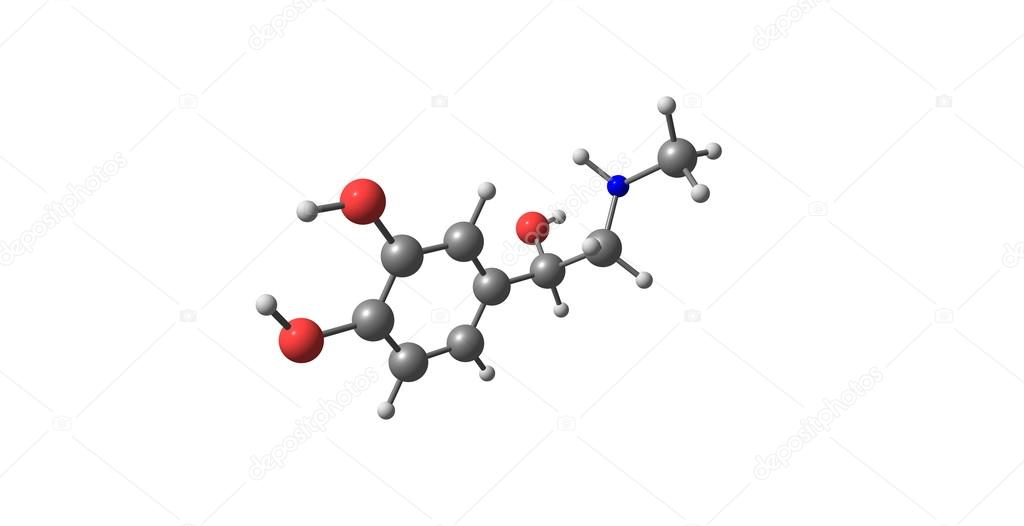 Estructura Molecular De Adrenalina Aislado En Blanco Fotos